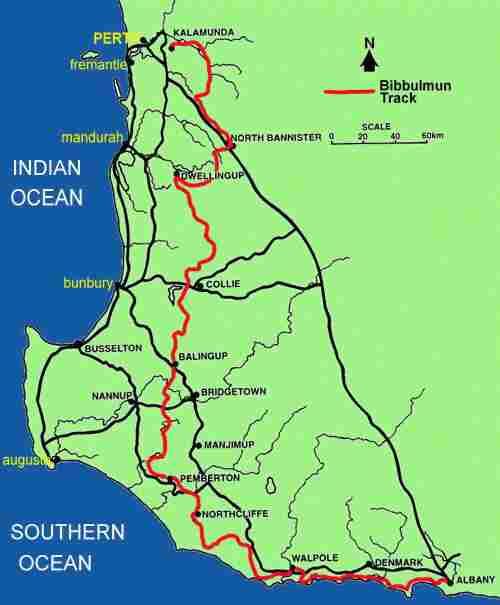 Bibbulmun Track Map The Bibbulmun Track   W.A's World Class 963km Walk Trail